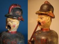 Räuchermann als Feuerwehrmann