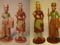 Krippenfiguren, Maria und Josef