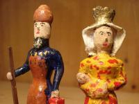 Nativity figures: Mary and Joseph