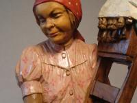 lumberjack and lace making woman
