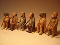 animals from an ark (animals from turned ring)