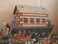 barge bottom ark with animals from turned ring