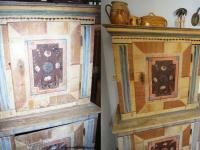 Storage cupboard, two-pieced