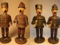 Räuchermänner als Husar und Feuerwehrmann