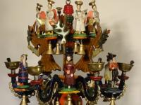 candlestick from Wiesa with eagles