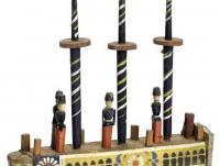 Ziehspielzeug Segelschiff